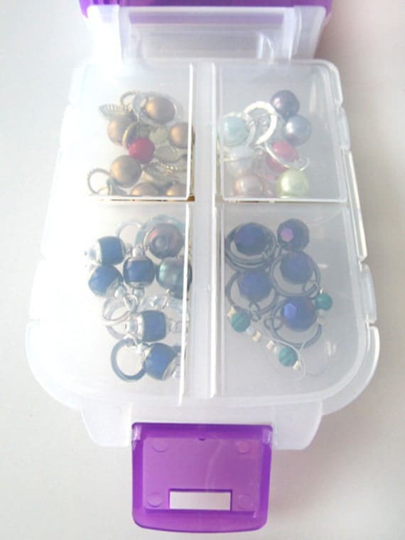 Snap 'n Go Notions Case - Jumbo - On-The-Go Storage Accessory for Knitters and Crocheters - Violet Purple