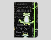 Kindle Cover Hardcover, Kindle Case, eReader, Kobo, Kindle Voyage, Kindle Fire HD 6 7, Kindle Paperwhite, Nook GlowLight Yoga Frogs