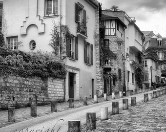 A Paris Street in Black and White - Fine Art Photography