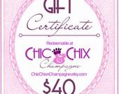 Gift Certificate 40 Dollars - Last Minute Birthday / Gift Voucher