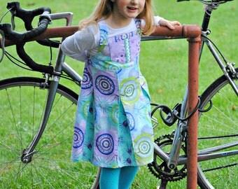 Girls Jumper, Girls Sundress, Girls Dresses, Toddler Dress, Children Clothing, Purple dress, Little Girls Clothing, Size 2T 3 4 5 6 7 8 10