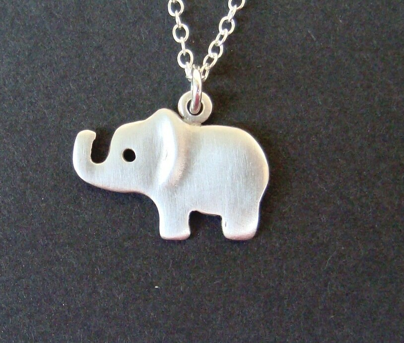 elephant pendant elephant necklace sterling silver by