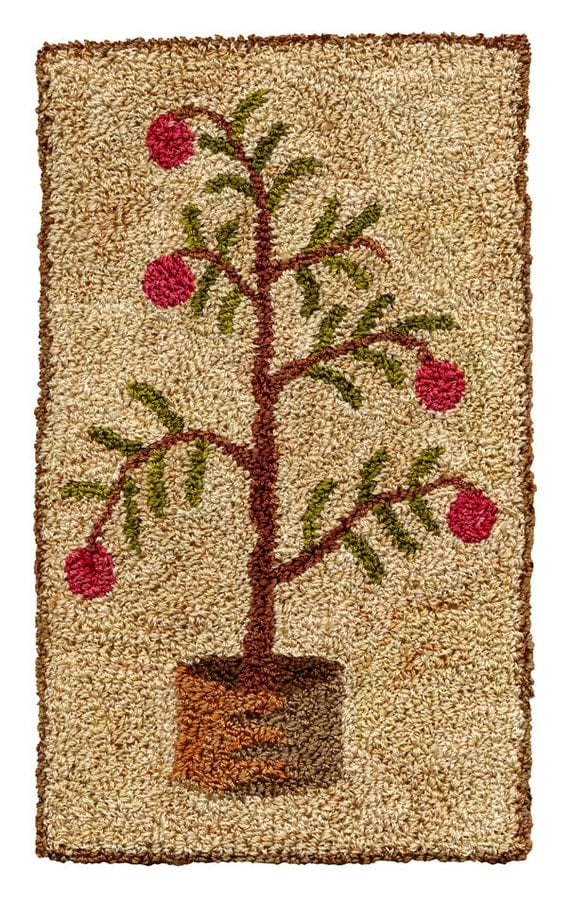 Shaker Tree Pattern For Punch Needle Embroidery
