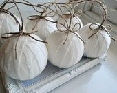 Christmas Baubles - Set of 3 - White
