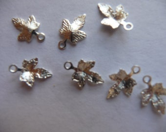 SALE!! Charm, silver plated, brass, 12x12mm, maple leaf, Pkg Of 14 SALE!!