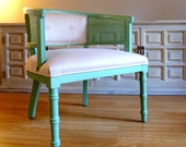 Featured in Etsy's Spring 2013 Lookbook - Mid Century Mint Club Chair - Lovely