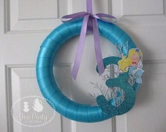Mermaid Party Custom Door Wreath - Blue Lagoon Collection