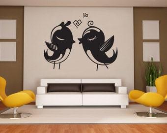 Vinyl Wall Decal Sticker Love Birds 1019m
