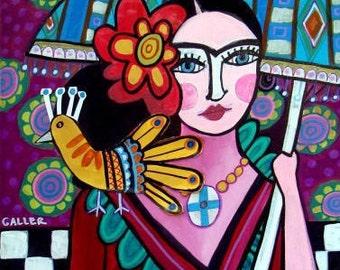 60% Off- Mexican Folk Art, Frida Kahlo Art (HG670)