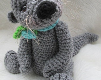 Crochet Pattern Cute Otter by Teri Crews Wool and Whims Instant Download PDF Format Crochet Toy Pattern