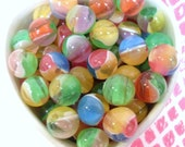 20x 12mm Resin Juicy Shiny Globe beads in mixed colours