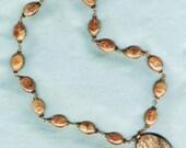 Russian Yuksporite Pendant with Hessonite beads