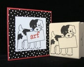 """picture show rubber stamp """"sign dog"""""""