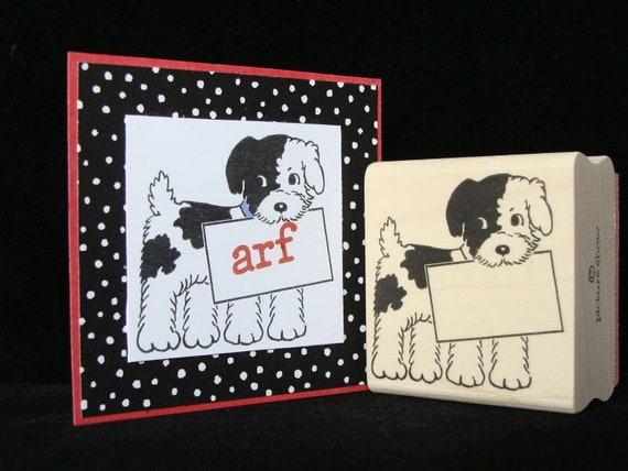 "picture show rubber stamp ""sign dog"""