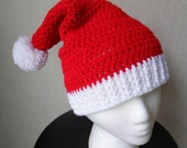 Santa Hat Christmas Beanie - Red and White