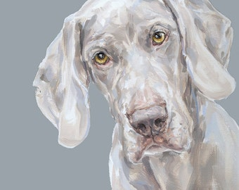 Weimaraner Dog Art Print -  Ltd ed. Signed
