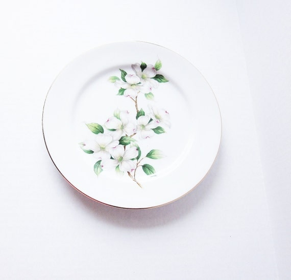 Kings Court China Serving Plate Dogwood Blossoms Vintage Mid Century Salad Plate Spring Desert Plate Minimalist Home Decor Made In Japan