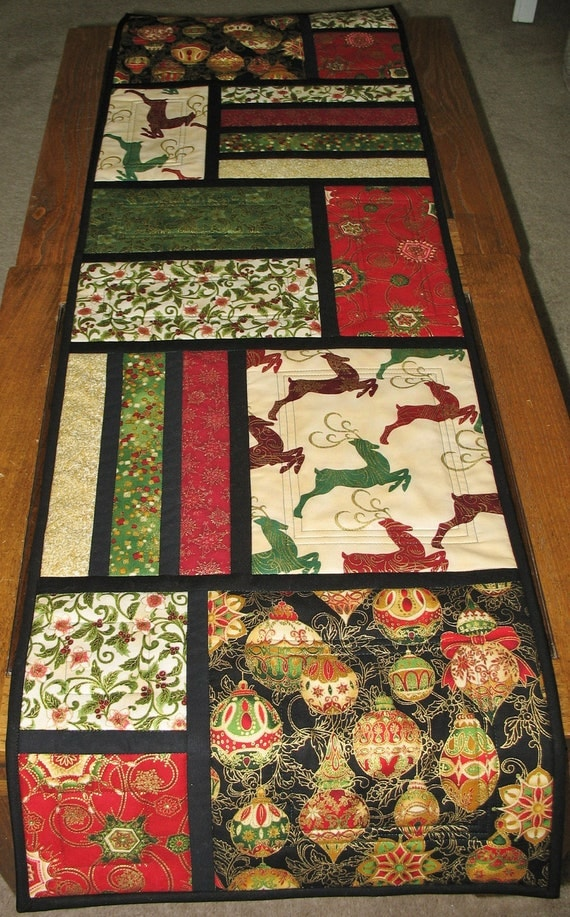 patterns table PicketFenceFabric Quilted Runner Kaufman kaufman  robert from runner Table Christmas by