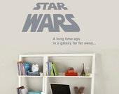 Star Wars - A long time ago in a galaxy far far away...
