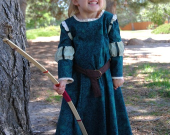 My Fairy Tale: Merida Archery Dress and Belt - Sizes 2T, 3T, 4T, 5, 6, 7, 8 and 10