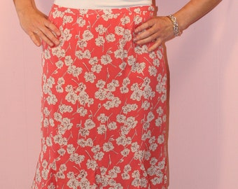Floral Silk Skirt