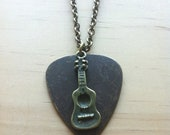 "Rockin' Guitar & Pick ""Musician's"" Necklace - Unisex - Mens"