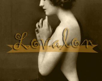 MATURE... Haunting 1920's Nude... Digital Download