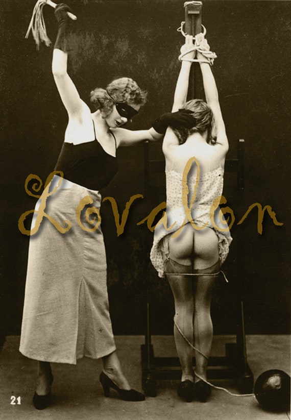 MATURE... Bound To Please... Vintage Nude Photo... Deluxe Erotic Art Print... Available In Various Sizes