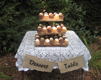Rustic Cupcake Stand, Rustic Cake Stand, 3 Tier Stand, Rustic Wedding, Log Cupcake Stand, Tree Cupcake Stand, Your Divine Affair