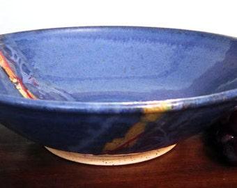 Cornflower Blue Shallow Bowl