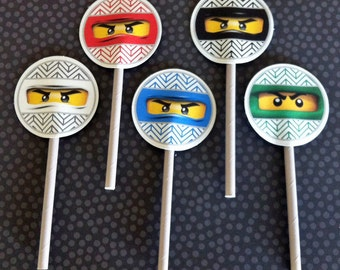 Ninja Cupcake Toppers  - Ninja - Party Supplies - INSTANT DOWNLOAD