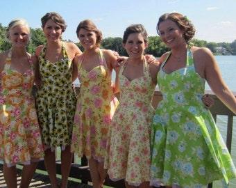 50s bridesmaid dress- custom size, your fabric choice!