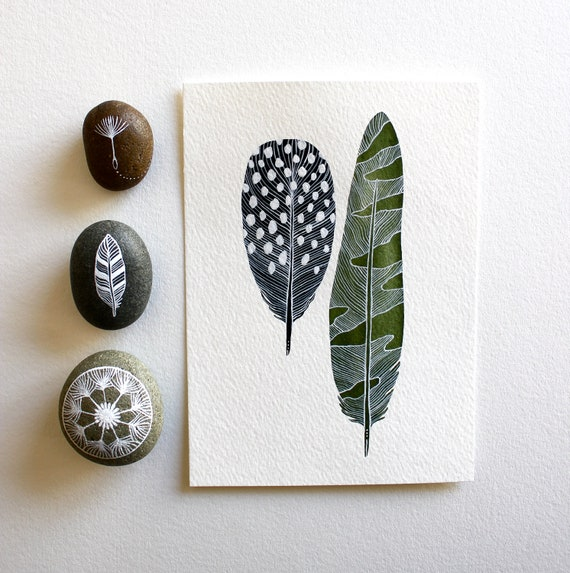 Featured in West Elm - Feather Watercolor Painting by Marisa Redondo - Archival Print - Elm Feathers