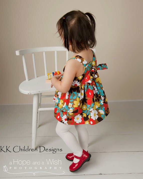 Sasha Double Ruffle Knot Top - Toddler Knot Dress Pattern - Girls Top - Handmade - Childrens Clothing -  Girls Dress Pattern - 12M to 5