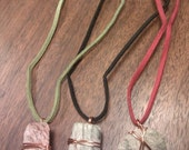 Slate and Leather Necklace
