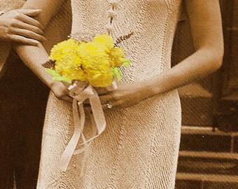 A BEST Vintage 1970s Chevron Lace Bridal Dress 554 PDF Digital Knit Pattern
