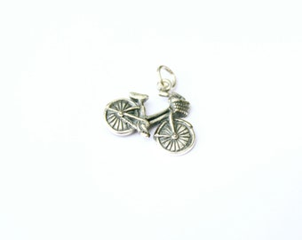 Bike Charm, Sterling Silver, Bicycle, Bicycle Charm, Silver Bike, Silver Bicycle Charm, Outdoors Charm, Adventure Charm