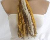 Fringe Scarf Knotted Scarf by Arzu's Style