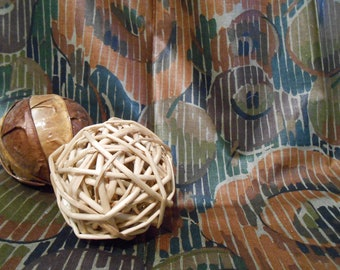 Cotton Fabric Vintage Chintz Fairmount Fabrics 1980s Sewing Supplies