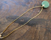 Made to order satin cord necklace 40cm gold or silver snap clasp