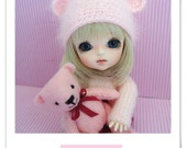 Little pink bear hat for Lati Yellow