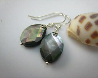 black lip shell earrings