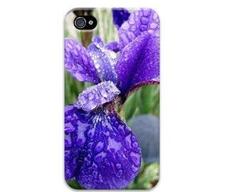 Purple Iris iphone 6 case, flower iphone 7 case, floral iphone 5 case, iphone se case, unique iphone 4 case, womens iphone case, iphone 6