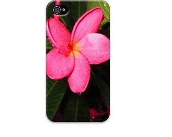 Plumeria iphone 6 case, Tropical iphone 5 case, Flower iphone 6 case, Hawaiian iphone case, Unique iphone 4 case, Hot pink iphone se case