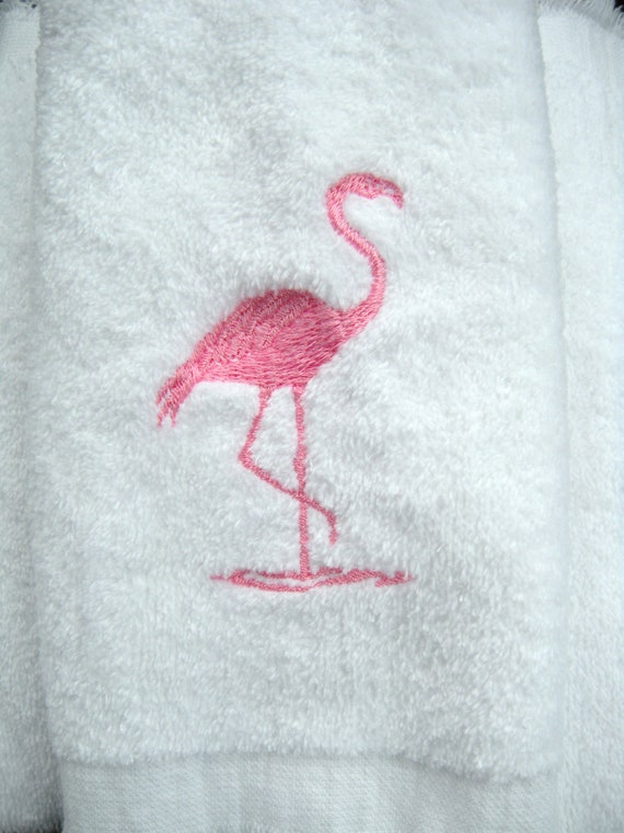 Items Similar To Flamingo Towel Bathroom Or Powder Room