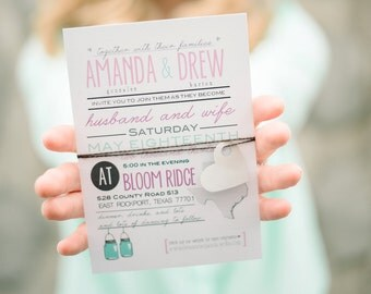 Custom Typography-style wedding suite by Little Miss Mrs