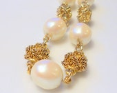 vintage talbot pearl necklace gold beaded chain necklace classic sophisticated vintage jewelry pearls and gold faux pearls