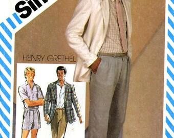 Simplicity 5867 Teen Boy Designer Jacket, Shirt, Pants and Shorts Henry Grethel Size 14 Uncut Vintage Sewing Pattern 1982