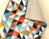 Modern Geometric Baby Quilt.