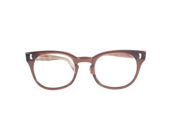 Mink Brown Wayfarer-Style Eye Frames /Bigger Eyeglasses/ 50-22 Mad Men Sunglasses